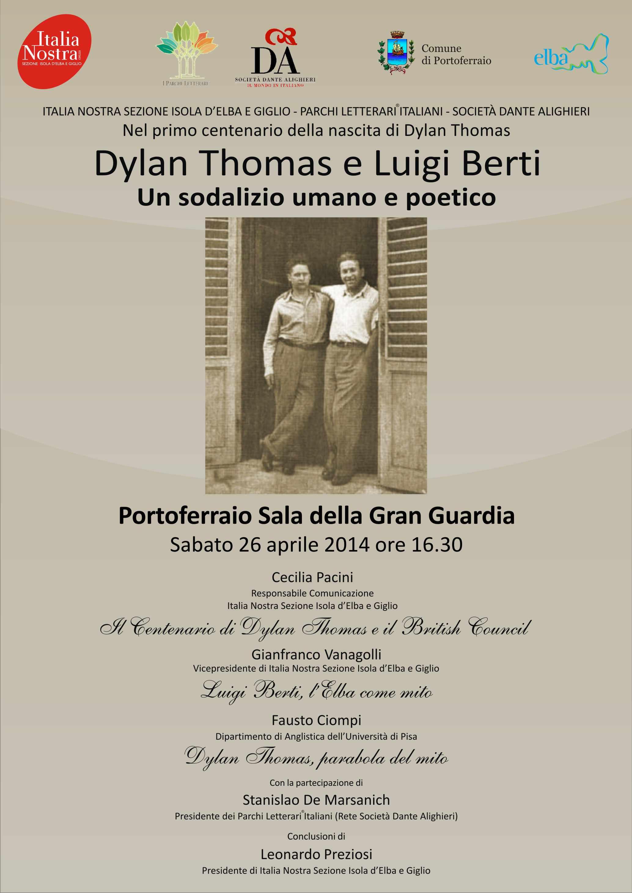 Dylan Thomas e Luigi Berti