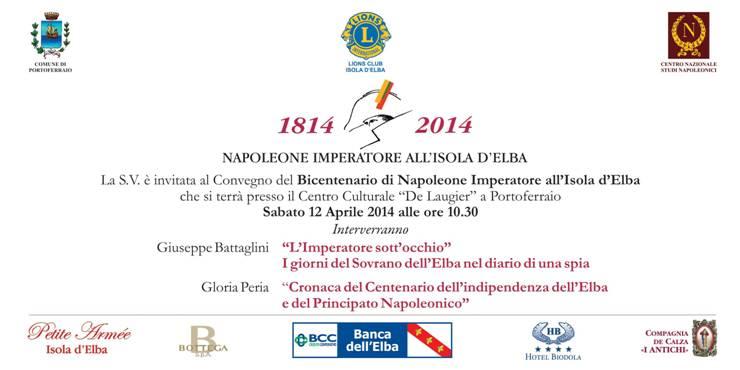 Conversazioni Napoleoniche Elba Isola Impero. 12 aprile 2014