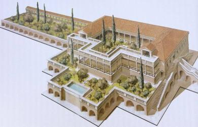 la villa romana delle grotte - ricostruzione