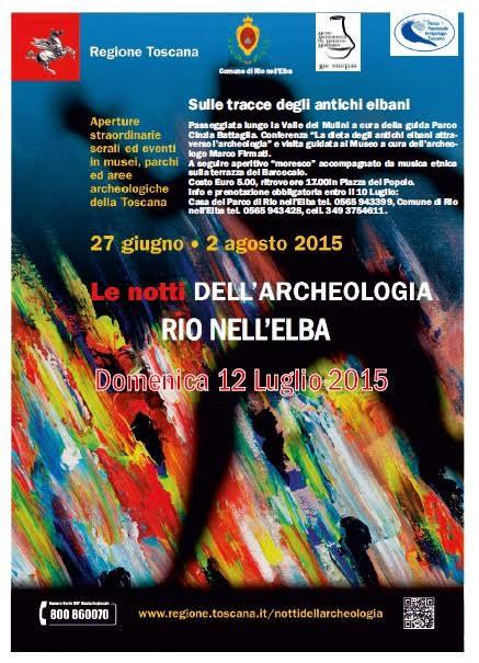 le notti dell'archeologia a rio elba 2015